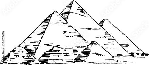 Photo Pyramids of Giza Vector Drawing