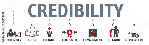 Carta da parati  credibility building concept