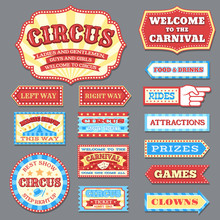 Vintage Circus Labels And Carn...