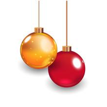 Template Of Glass Christmas Ba...