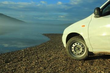 Fototapeta na wymiar car on the road