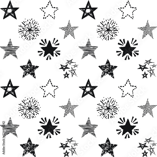 seamless-stars-pattern-hand-drawn-sketch-cute-vector-illustration-background-in-doodle-style