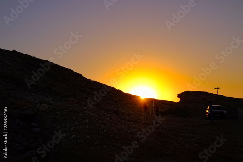 Photo Sunset in the mountain