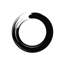 Zen Circle. Black. Vector. Isolated.