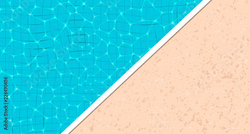 Fotografía Summer pool party banner with space for text