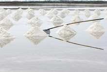 Sea Salt Evaporation Pond In B...