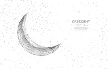 Vector Crescent Moon. Abstract...
