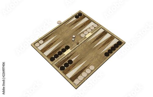 Slika na platnu Backgammon Spielbrett