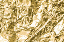 Gold Wrinkled Paper Texture Ab...