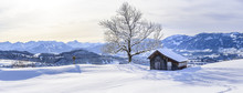 Winterpanorama Im Oberallgäu