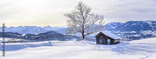 Canvastavla Winterpanorama im Oberallgäu