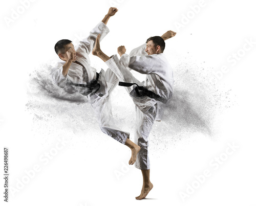 Spoed Foto op Canvas Vechtsport Martial arts masters, karate practice
