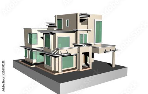 Modernes Designer Haus Buy This Stock Illustration And Explore