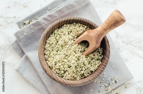 Tuinposter Kruiderij Organic hemp seeds