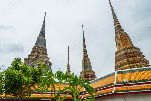 Details of pagoda at Wat Phra temple, Bangkok