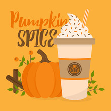 Pumpkin Spice Vector Graphic I...