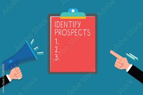 Pinturas sobre lienzo  Handwriting text Identify Prospects
