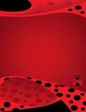 Ladybug Background Border Template
