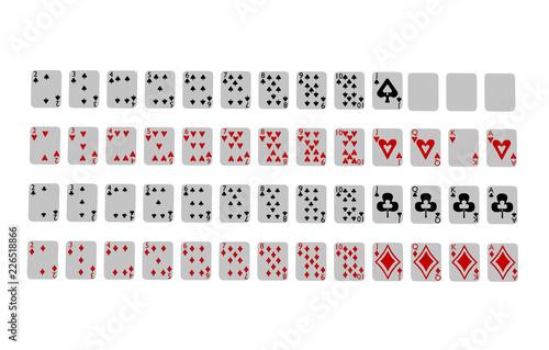 Fotografía  Aufgedeckte Spielkarten