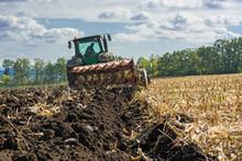 A Plowed Field After Harvestin...