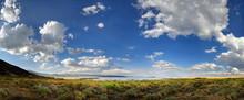 Mono Lakes Bei Lee Vining Mit Wolkenhimmel