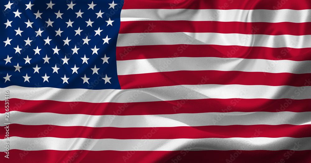 Fototapety, obrazy: waving us flag