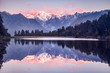 canvas print picture - Sunset, Lake Matheson