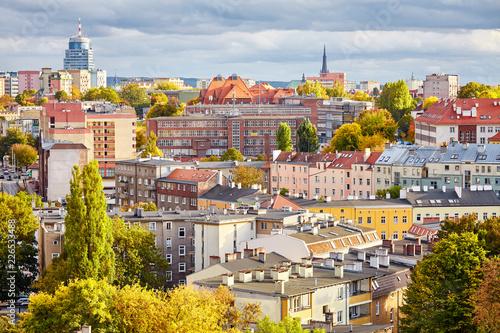 Obraz Szczecin (Stettin) cityscape in autumn, Poland. - fototapety do salonu