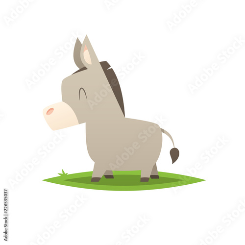Cartoon donkey vector isolated illustration Fototapeta