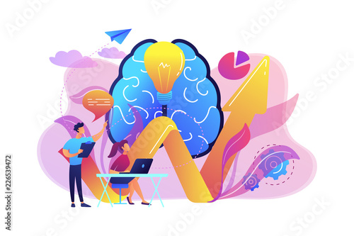 Innovative solution concept vector illustration.