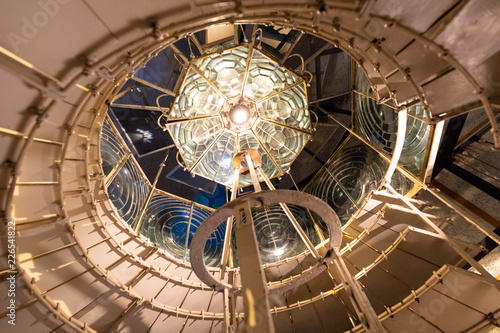 Fototapeta Old Cordouan lighthouse Fresnel lens