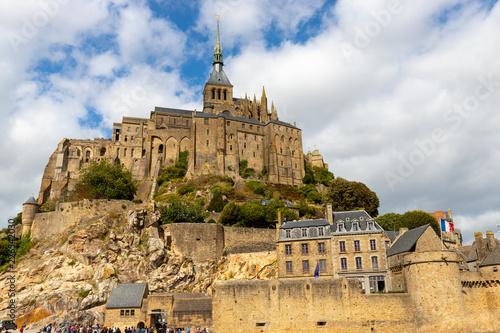 The Mont Saint Michel village and abbey Canvas Print
