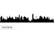 Bangkok city skyline silhouette background