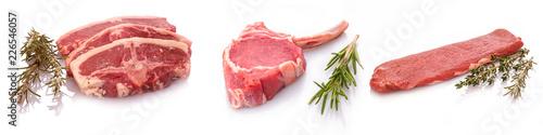 Lammkotelltes Lammcaree Lammrücken Lammfilet Fototapete