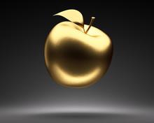 Goldener Schwebender Apfel
