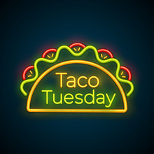 Traditional Taco Tuesday Neon ...