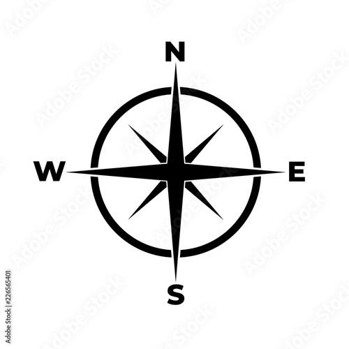 Obraz Compass icon, logo on white background - fototapety do salonu