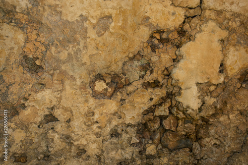 Poster Old dirty textured wall Grunge wall brown background. Abstract old texture with copy space