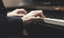 Close Up Of A Musician Playing...