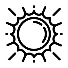 Space Sun Icon. Outline Space Sun Vector Icon For Web Design Isolated On White Background