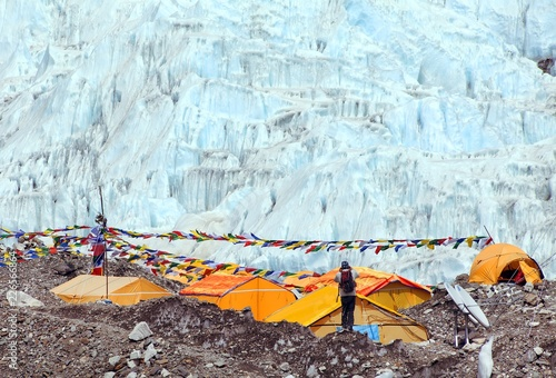 Fotografia  View from Mount Everest base camp