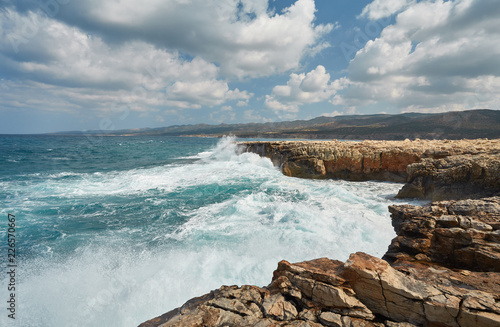 Foto op Canvas Kust rocky coast of the island of Cyprus