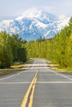 Empty Road With Mount Denali (...
