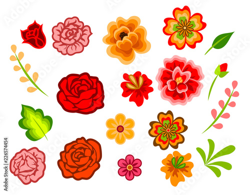 Mexican flowers Wallpaper Mural