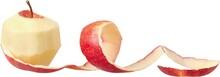 Apple Skin Being Peeled Off