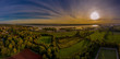 Luftbild Wedel bei Sonnenuntergang