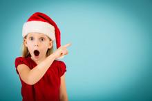 Shocked Little Christmas Girl ...