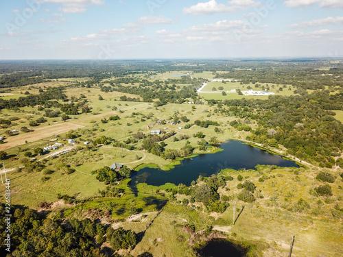 Foto op Plexiglas Texas Aerial of Rural Sommervile, Texas in between Austin and Houston