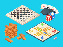 Board Games. Vector Isometric ...