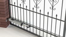 Automatic Opening Gate - White...